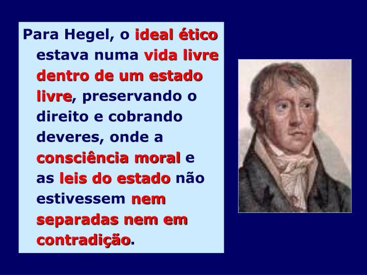 Para Hegel, o