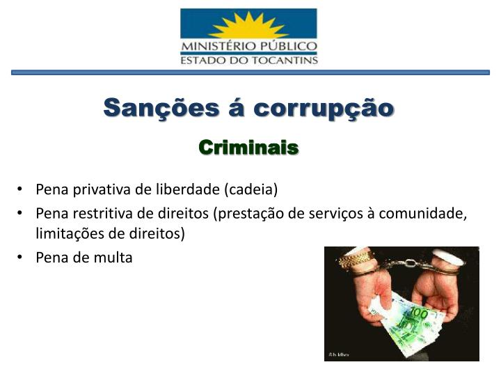 Sanções á corrupção