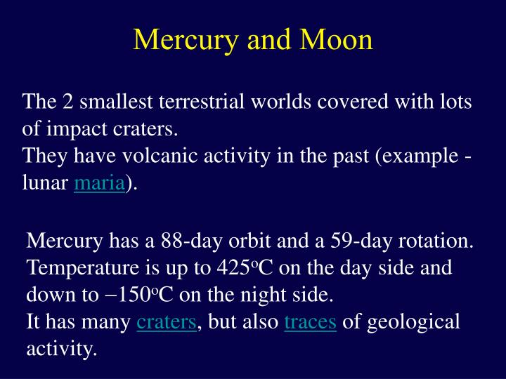 Mercury and Moon