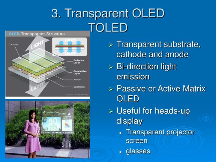 3. Transparent OLED