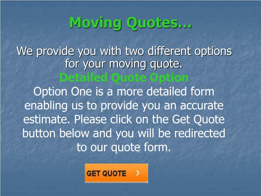 Moving Quotes…