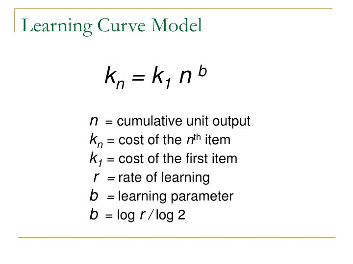 Learning Curve Model
