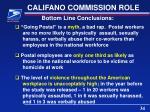 califano commission role1
