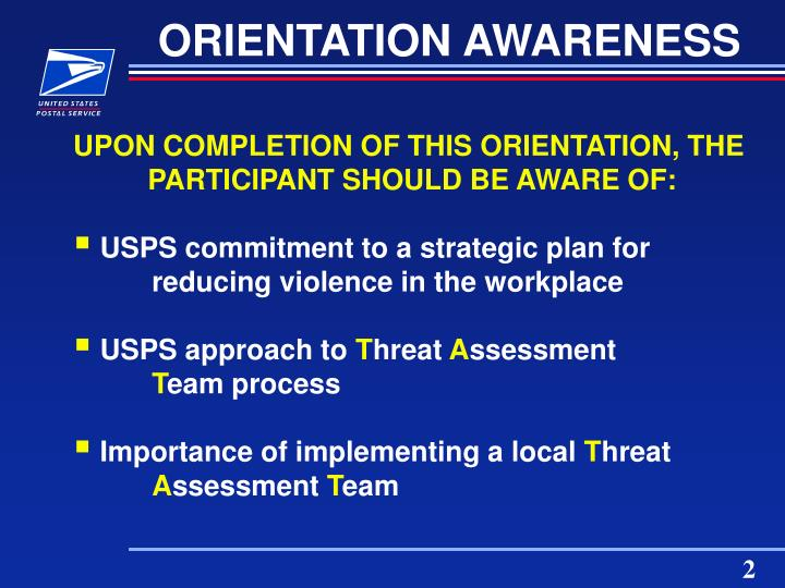 Orientation awareness