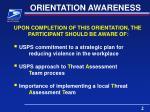 orientation awareness