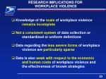 research implications for workplace violence