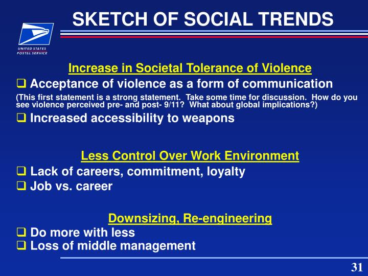 SKETCH OF SOCIAL TRENDS