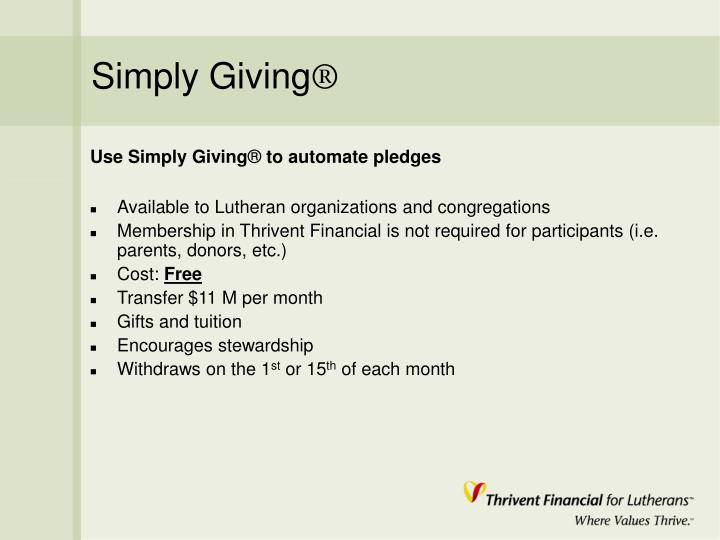 Simply Giving