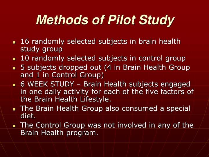 Methods of Pilot Study
