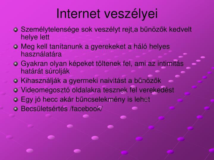Internet veszélyei