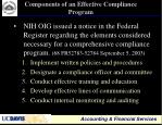 components of an effective compliance program
