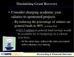 maximizing grant recovery1