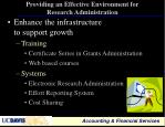 providing an effective environment for research administration