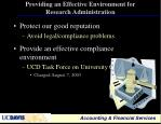 providing an effective environment for research administration1