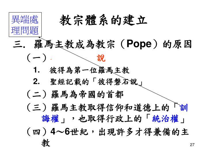 教宗體系的建立