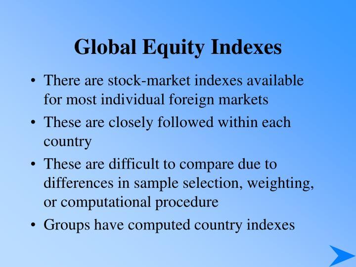 Global Equity Indexes
