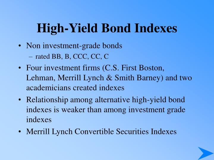 High-Yield Bond Indexes