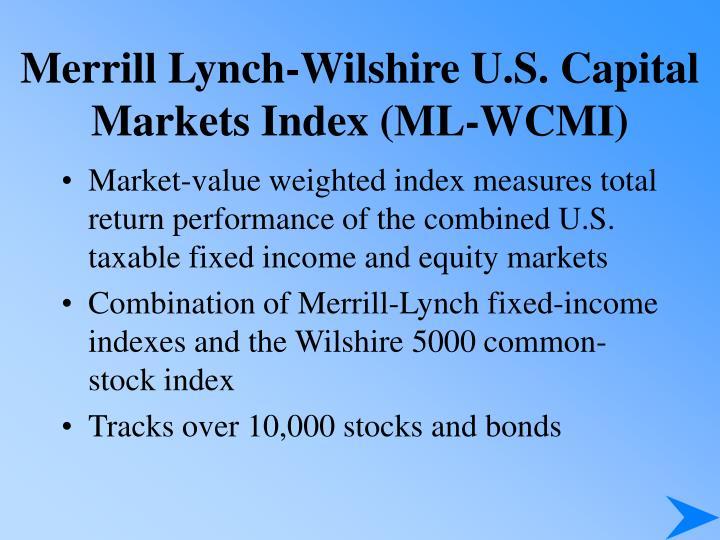Merrill Lynch-Wilshire U.S. Capital Markets Index (ML-WCMI)