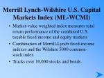 merrill lynch wilshire u s capital markets index ml wcmi