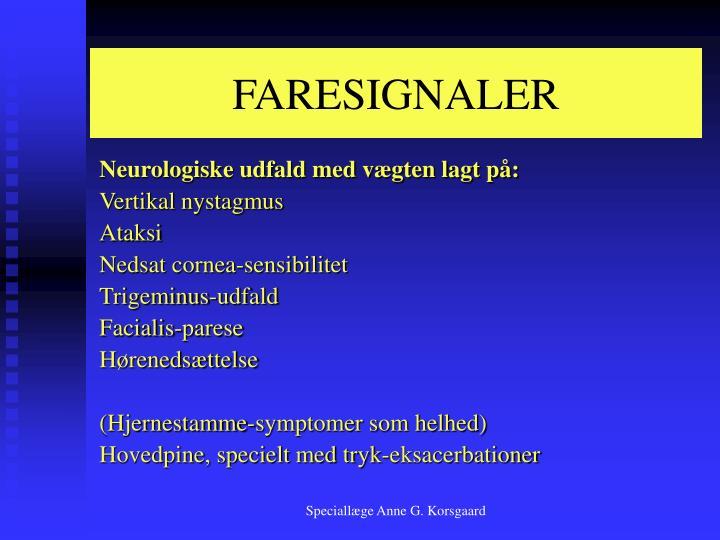 FARESIGNALER