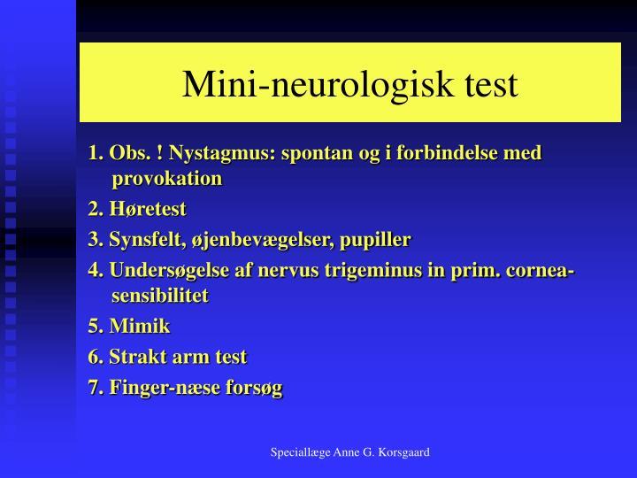 Mini-neurologisk test