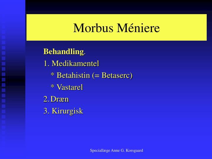 Morbus Méniere