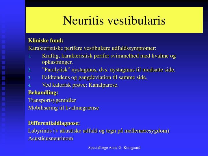 Neuritis vestibularis