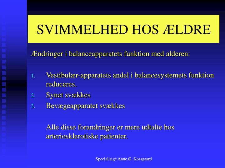 SVIMMELHED HOS ÆLDRE