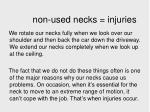 non used necks injuries