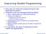 improving parallel programming