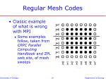 regular mesh codes