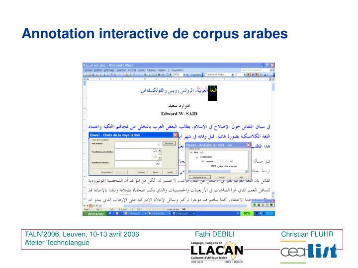 TALN'2006, Leuven, 10-13 avril 2006                             Fathi DEBILI   Christian FLUHR