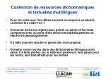 confection de ressources dictionnairiques et textuelles multilingues5