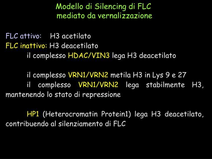 Modello di Silencing di FLC