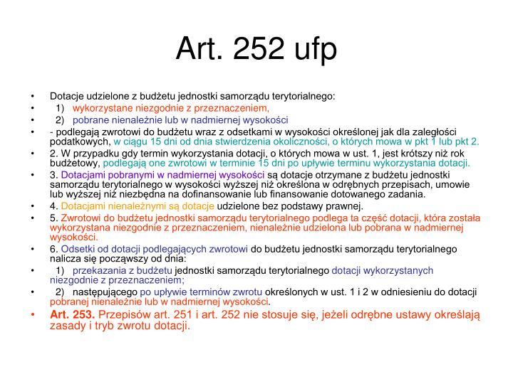 Art. 252 ufp