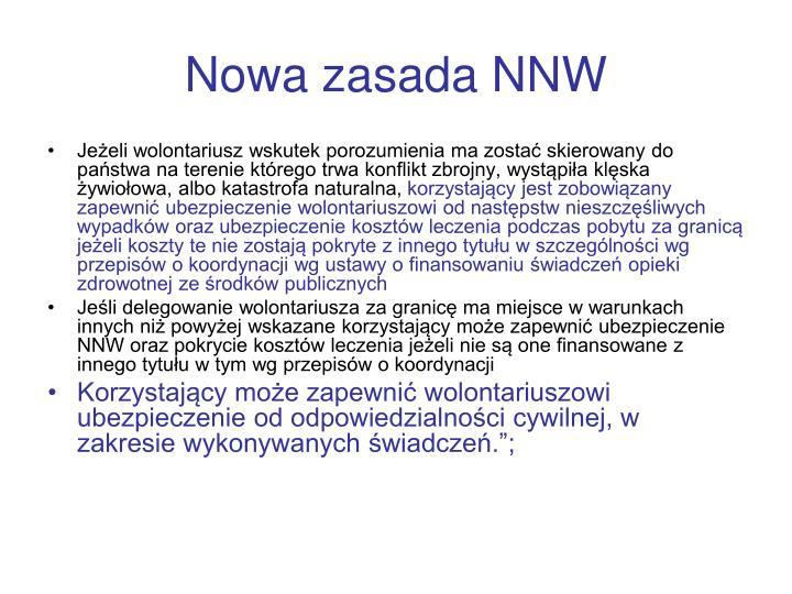 Nowa zasada NNW