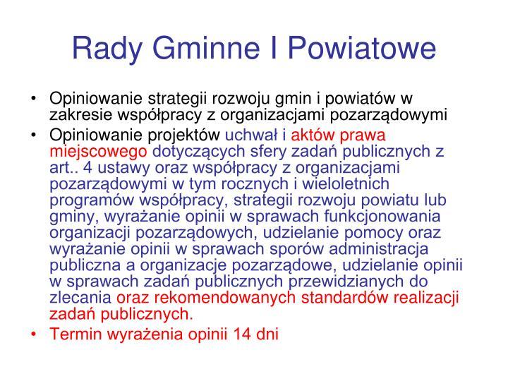 Rady Gminne I Powiatowe