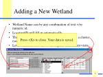 adding a new wetland