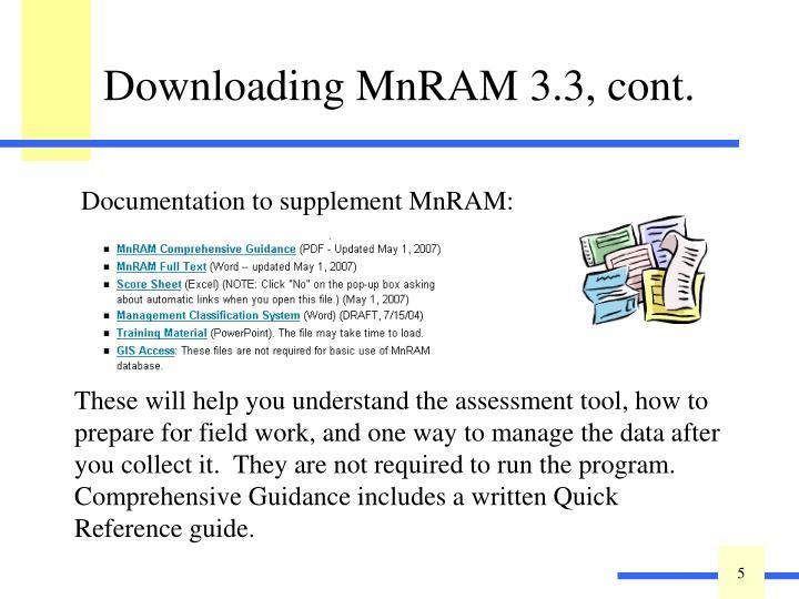 Downloading MnRAM 3.3, cont.