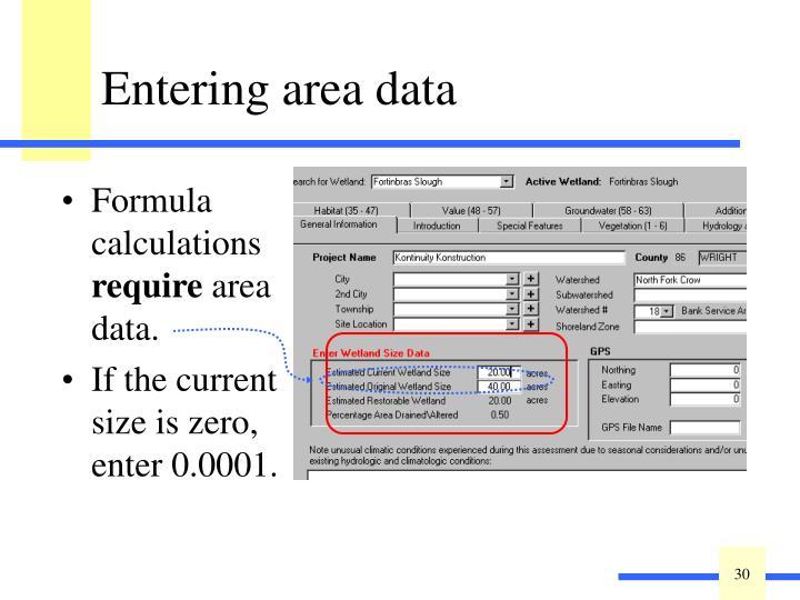 Formula calculations