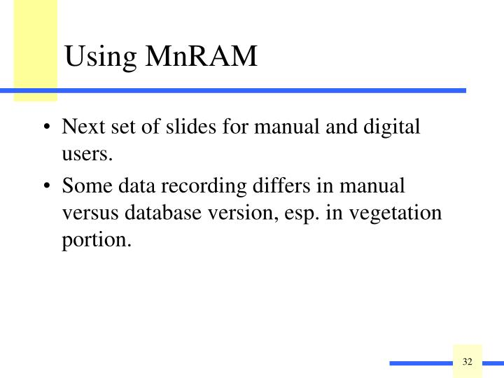 Next set of slides for manual and digital users.
