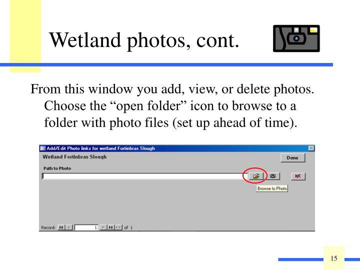 Wetland photos, cont.