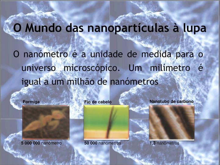 O Mundo das nanopartículas à lupa