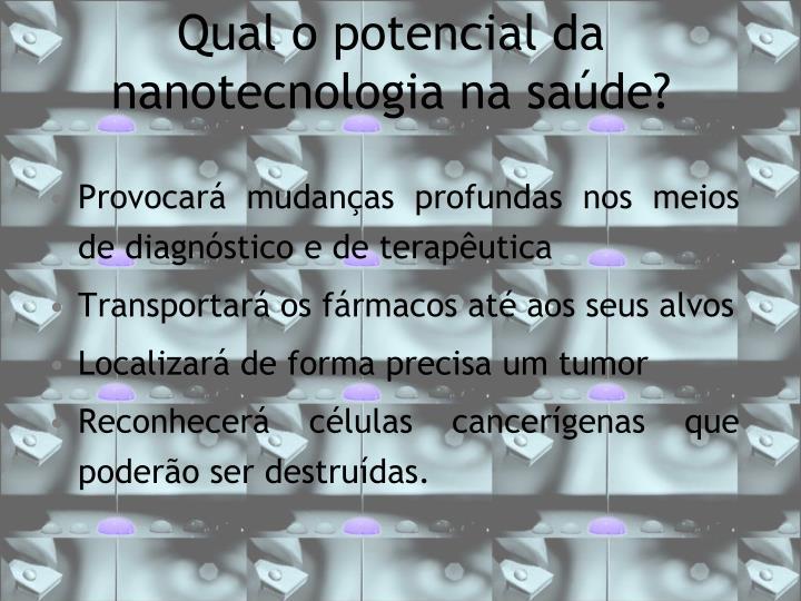 Qual o potencial da nanotecnologia na saúde?