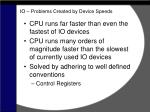 io problems created by device speeds