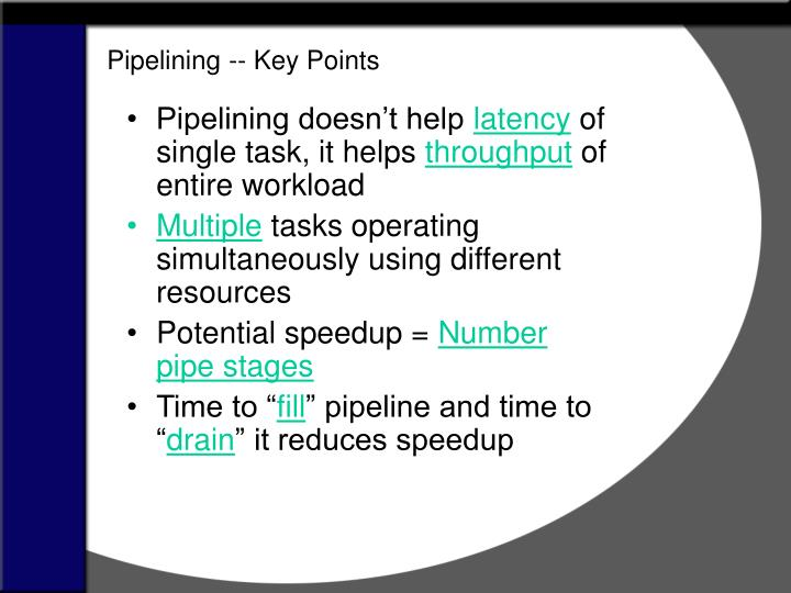 Pipelining -- Key Points