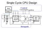 single cycle cpu design1
