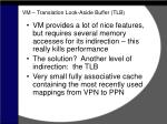 vm translation look aside buffer tlb