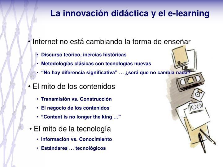 La innovación didáctica y el e-learning