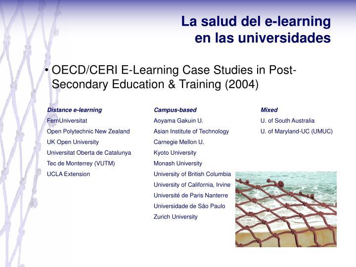 La salud del e-learning